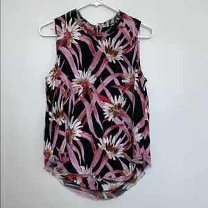 WHO WHAT WEAR - floral blouse